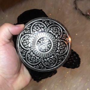 New York and Co Boho floral belt braided leather